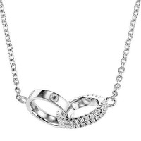 Sterling Silver Interconnected Wedding Band Necklace