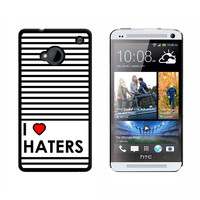 I Love Heart Haters HTC One Case