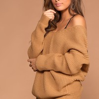 Twist And Shout Sweater - Camel
