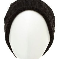 Geo-Stitch Slouchy Beanie by Charlotte Russe