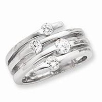 Sterling Silver CZ Right Hand Ring