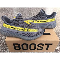 Off White X Adidas Yeezy 350 V2 Boost Gray/yellow 36 46 | Best Deal Online