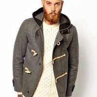 Gloverall Cropped Duffle Coat in Melton Wool