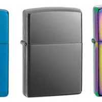 Zippo Lighter Set - Sapphire, Black Ice and Spectrum Pack of 3