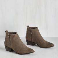 For You I Quilt Bootie in Stone by ModCloth