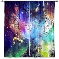 Window Curtains Lined from DiaNoche Designs Artistic, Stylish, Unique, Decorative, Fun, Funky, Cool by Sylvia Cook Look to the Stars