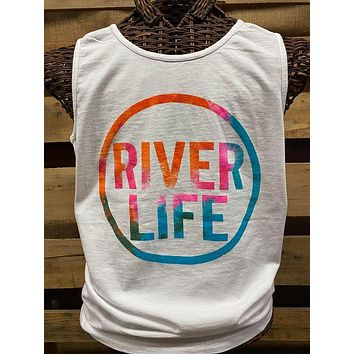 Southern Chics Apparel River Life Comfort Colors Girlie Bright T Shirt Tank Top