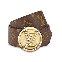 Inseva Louis Vuitton LV Classic Presbyopic Wild Smooth Buckle Belt