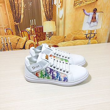 dior men fashion boots fashionable casual leather breathable sneakers running shoes 69