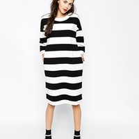 Monki Bold Stripe Oversized Dress