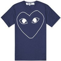 Comme des Garcons Play Outline Heart Logo Tee
