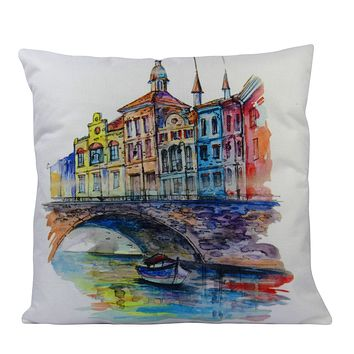 Watercolor Painting   Paris   Pillow Cover   Throw Pillow   Home Decor   Pillow Cover   Travel Gifts   Gift for Friend   Gifts for Women