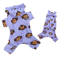Silly Monkey Hooded Pajamas — Lavender