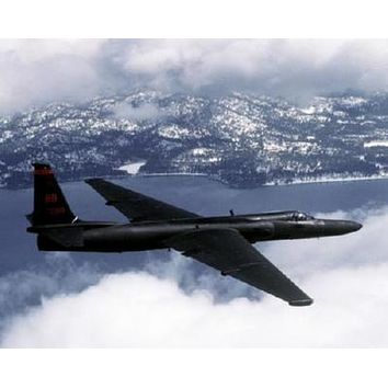U2 Military Airplane poster Metal Sign Wall Art 8in x 12in