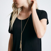 Chain Tassel Bolo Necklace | Wet Seal