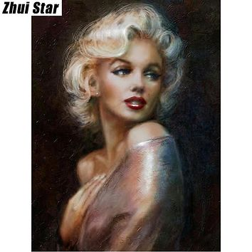 "Full Square Diamond 5D DIY Diamond Painting ""Marilyn Monroe"" Embroidery Cross Stitch Rhinestone Mosaic Painting Decor Gift"
