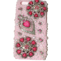 iphone 5 Case with Bling, iphone Cover, Pink iphone 5 Case, Pearl Iphone Cover,3D Cell Phone Case, Bridesmaid Gift, Wedding Accessories