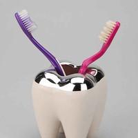 Tooth Toothbrush Holder- White One