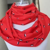 Very cute  infinity   scarf  with penguin  print  great accessory for your outfit