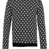 Black And White Cross Sweater - New In