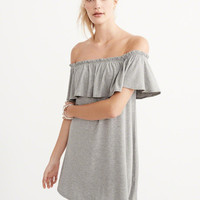 Womens Off-The-Shoulder Knit Dress | Womens Dresses & Rompers | Abercrombie.com