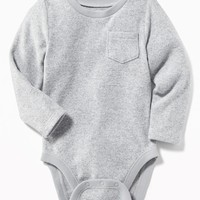 Plush-Knit Bodysuit for Baby |old-navy