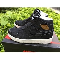 Air Jordan 1 black Basketball Shoes 36-47