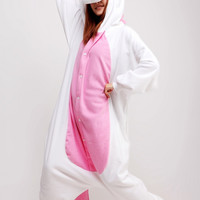 Pink Unicorn Animal Adult Kigurumi Onesuit