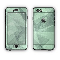 The Light Green with Translucent Shapes Apple iPhone 6 Plus LifeProof Nuud Case Skin Set