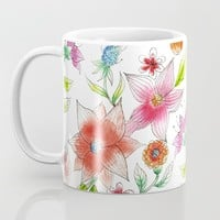 Spring flowers Coffee Mug by juliagrifoldesigns