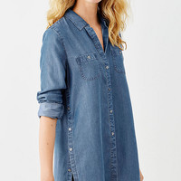 long indigo tunic | J.Jill