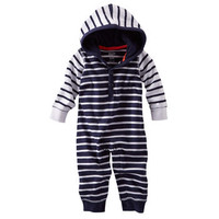 Striped Hooded Coverall