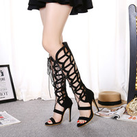 Summer Design Star High Heel Plus Size Sandals = 4804965700
