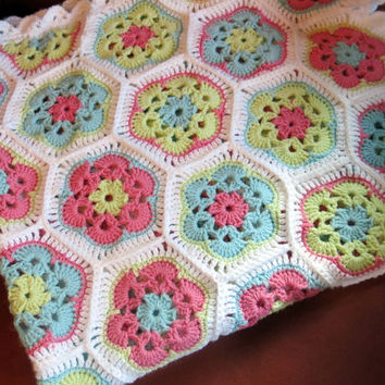 CROCHET BABY BLANKET/Infant Blanket/Hand Crochet