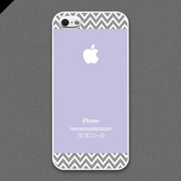 iPhone 5 Case  Light grayish chevron pattern on violet by evoncase