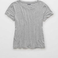 Aerie Real Soft® Easy Tee, Medium Heather