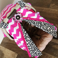 Carseat Canopy Hot Pink Chevron and Cheetah Print