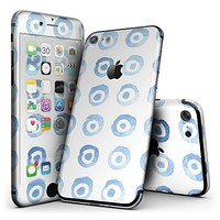 The Blue WaterColor BullsEye Pattern - 4-Piece Skin Kit for the iPhone 7 or 7 Plus
