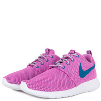 Nike Womens Roshe Run - Red Volt Green Abyss Wolf Grey White