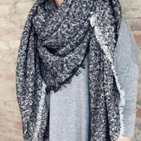 Nottingham Blanket Scarf - Black