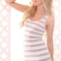 GREY WHITE STRIPE PRINT SCOOP NECK RACER BACK DRESS @ Amiclubwear sexy dresses,sexy dress,prom dress,summer dress,spring dress,prom gowns,teens dresses,sexy party wear,women's cocktail dresses,ball dresses,sun dresses,trendy dresses,sweater dresses,teen c
