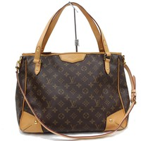 Authentic Louis Vuitton Hand Bag Estrela MM M41232 Browns Monogram 170853