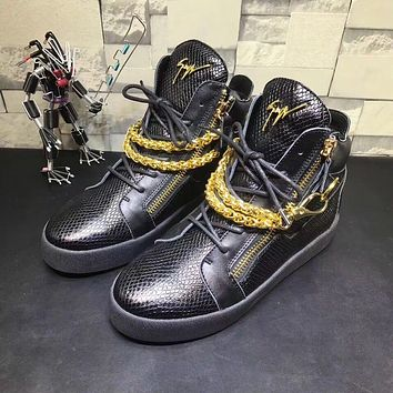 Giuseppe Zanotti Women's May London Leather Fashion Mid Top Sneakers Shoes