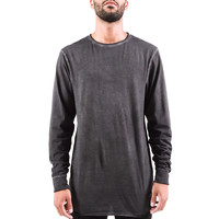 Threadworkshop - L/S Raw Tail Tee - Antique Charcoal