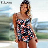2018 Sexy High Waist Bikini Swimwear Women Plus Size Swimsuit Push Up Bathing Suit Print Tankini Ruffle Swim Beach Wear Female