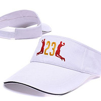 DEBANG 2016 The King'S Dunk Lebron James Sun Cap Embroidery Golf Visor Hat