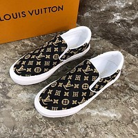 lv louis vuitton men fashion boots fashionable casual leather breathable sneakers running shoes 670