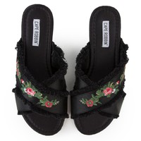 Cape Robbin Coma-7 Women's Black Sandal