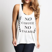 No Coffee No Talkie Graphic Tee