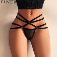 FINEJO 2018 Womens Panties Sexy Hollow Strappy Lingerie G-string Briefs Underwear Panties T string Thongs Briefs Exotic Lingerie